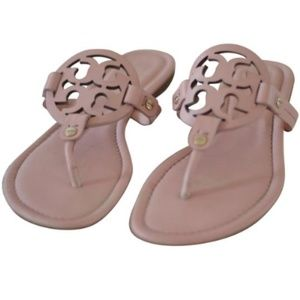 Tory Burch Light Pink Miller Leather Sandals